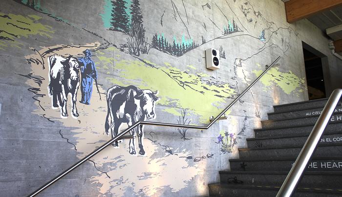 Décoration d'intérieur Peinture murale décorative fresque-peinte-maison-gruyere