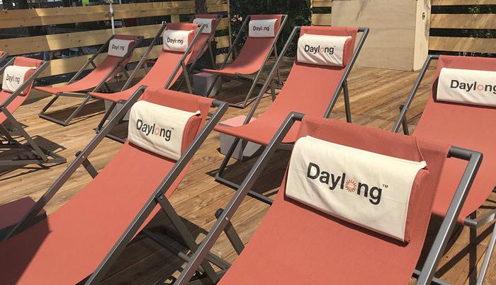 Objets publicitaires et textiles personnalisés impression-textile-chaise longue
