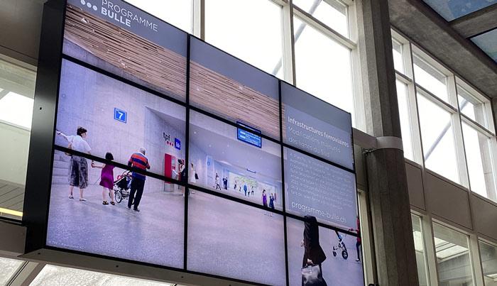 mur-ecran-affichage-digital-TPF-gare-CESA-Bulle
