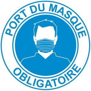 autocollant COVID port du masque obligatoire modèle B